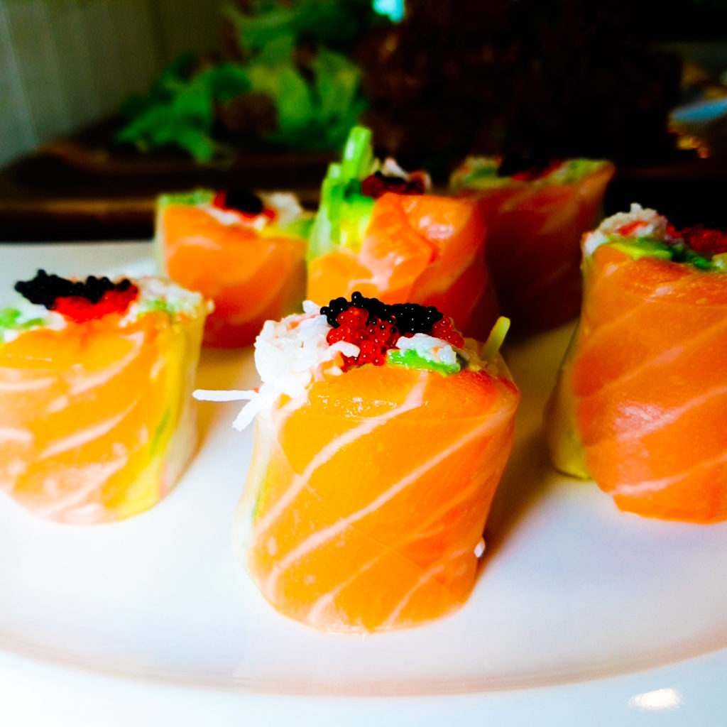 Salmon Sushi at Kitchen 121