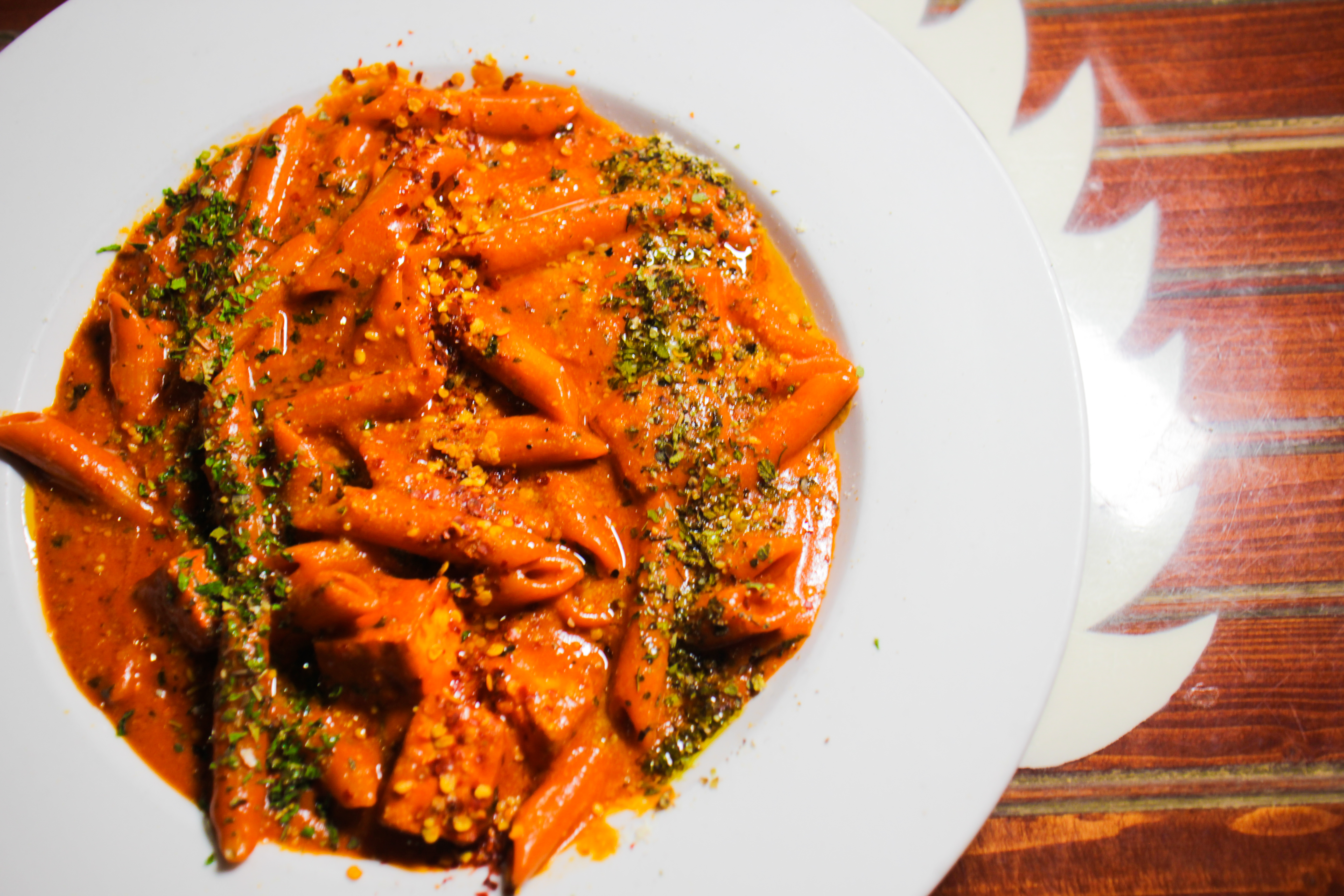 Tikka Pasta at Masti Fun Indian Street Eats
